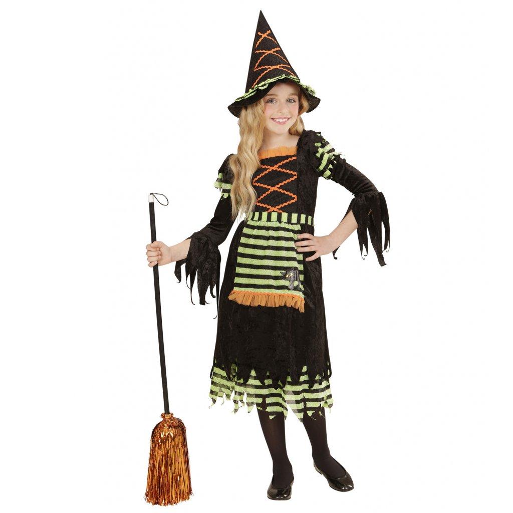 dívčí kostým pro čarodějnici