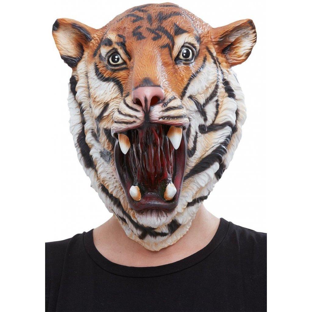 gumová maska tygr