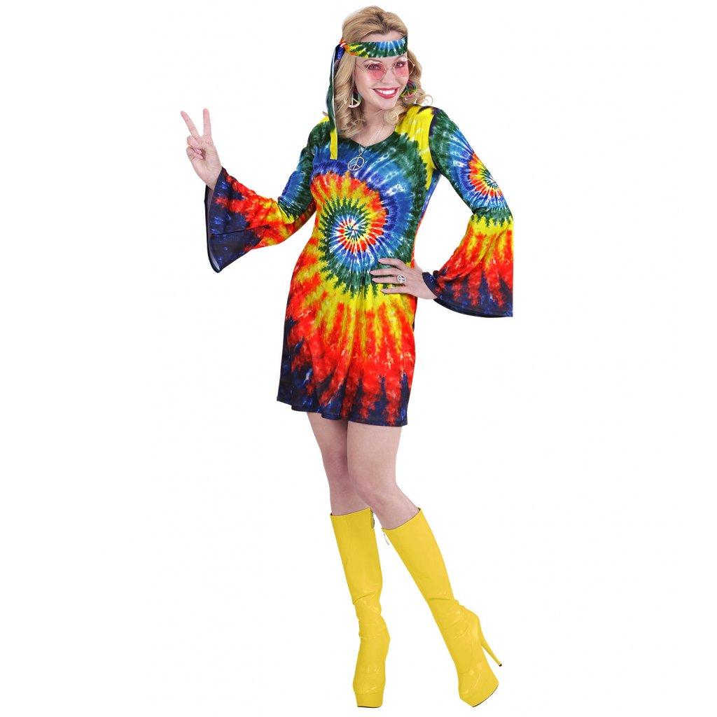batikované hippies šaty