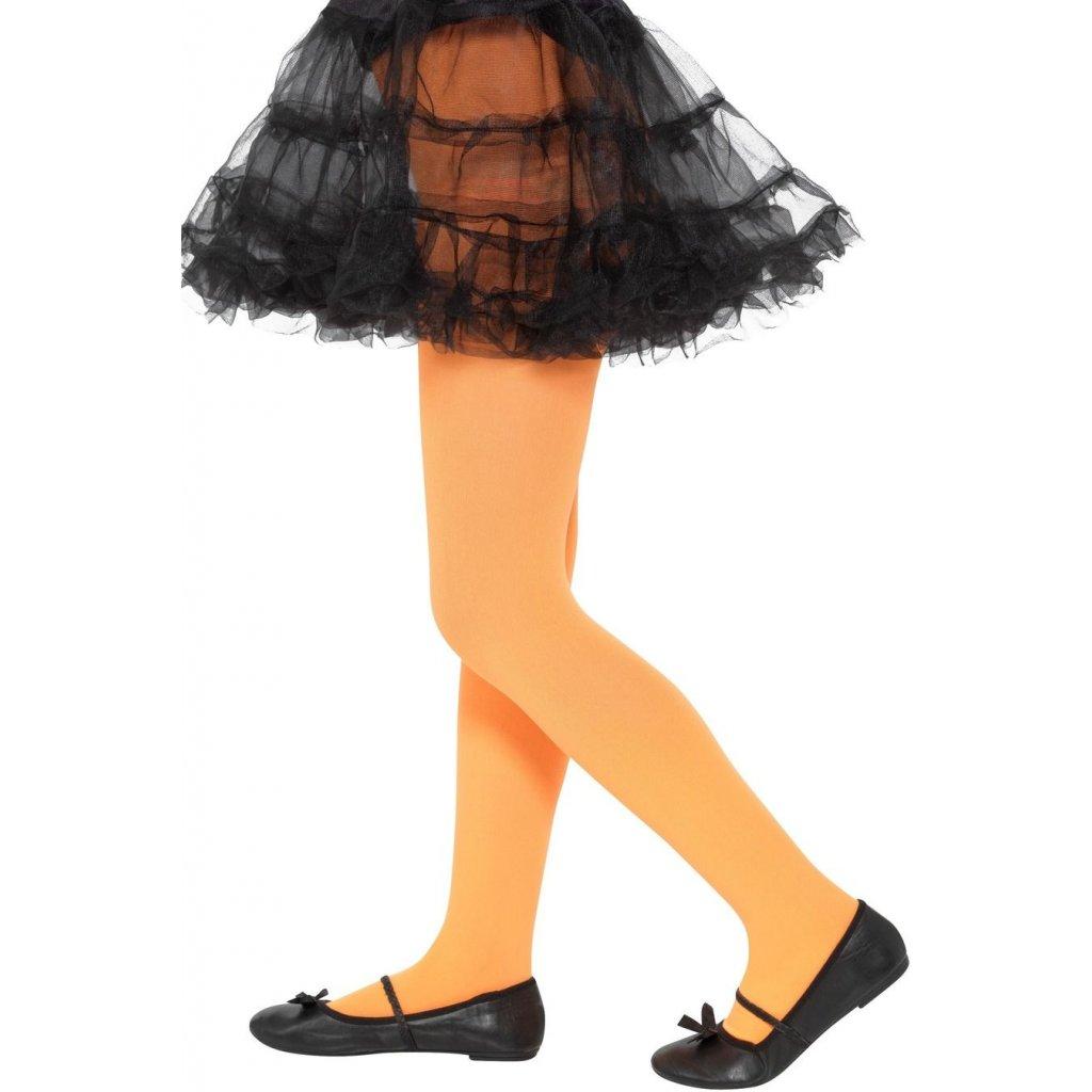 dětské oranžové punčocháče neonové