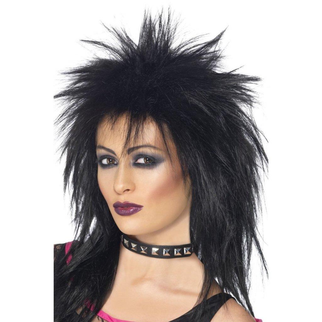 černá paruka rockerka