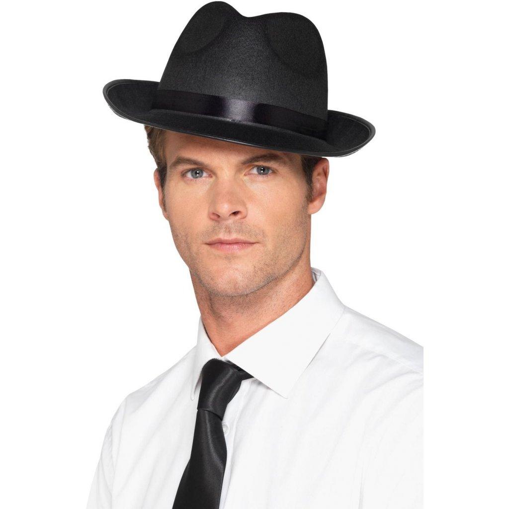 černý pánský fedora klobouk