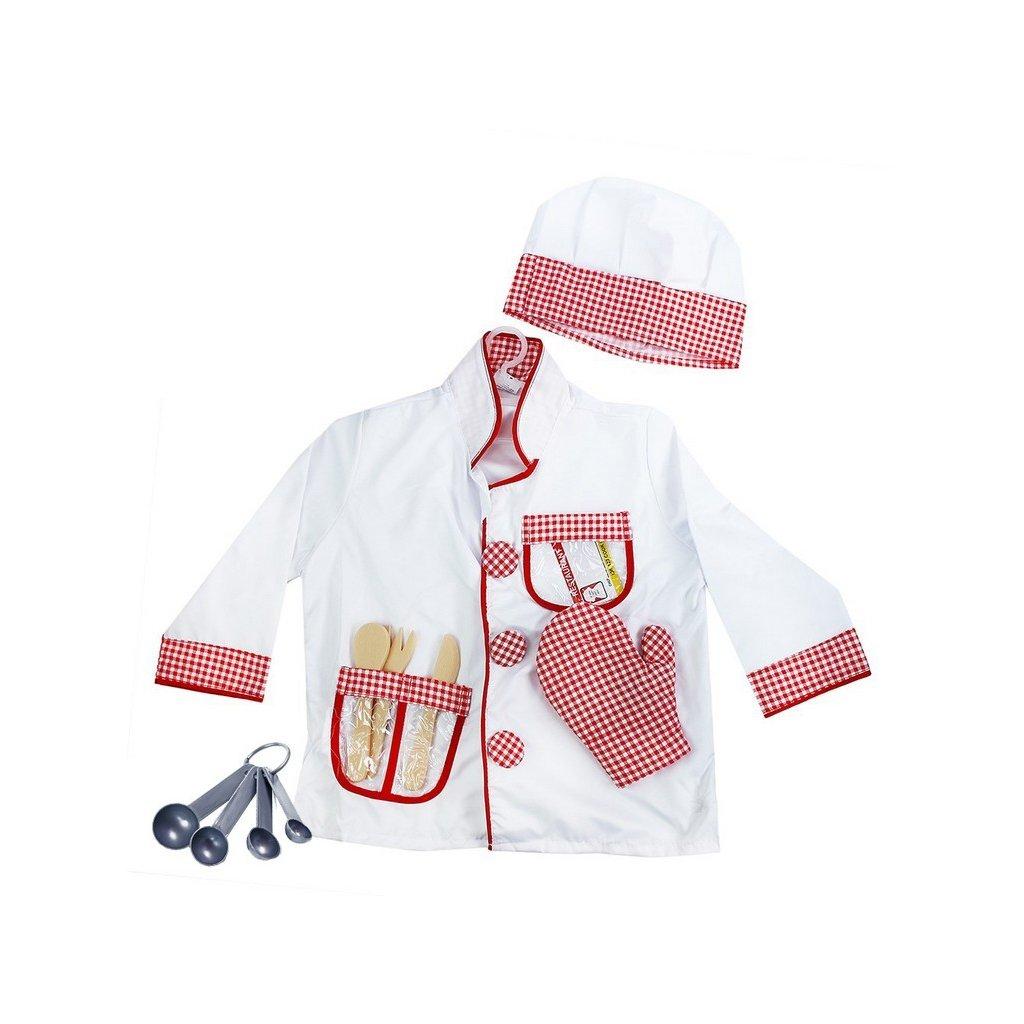 Dětský kostým kuchař s příslušenstvím