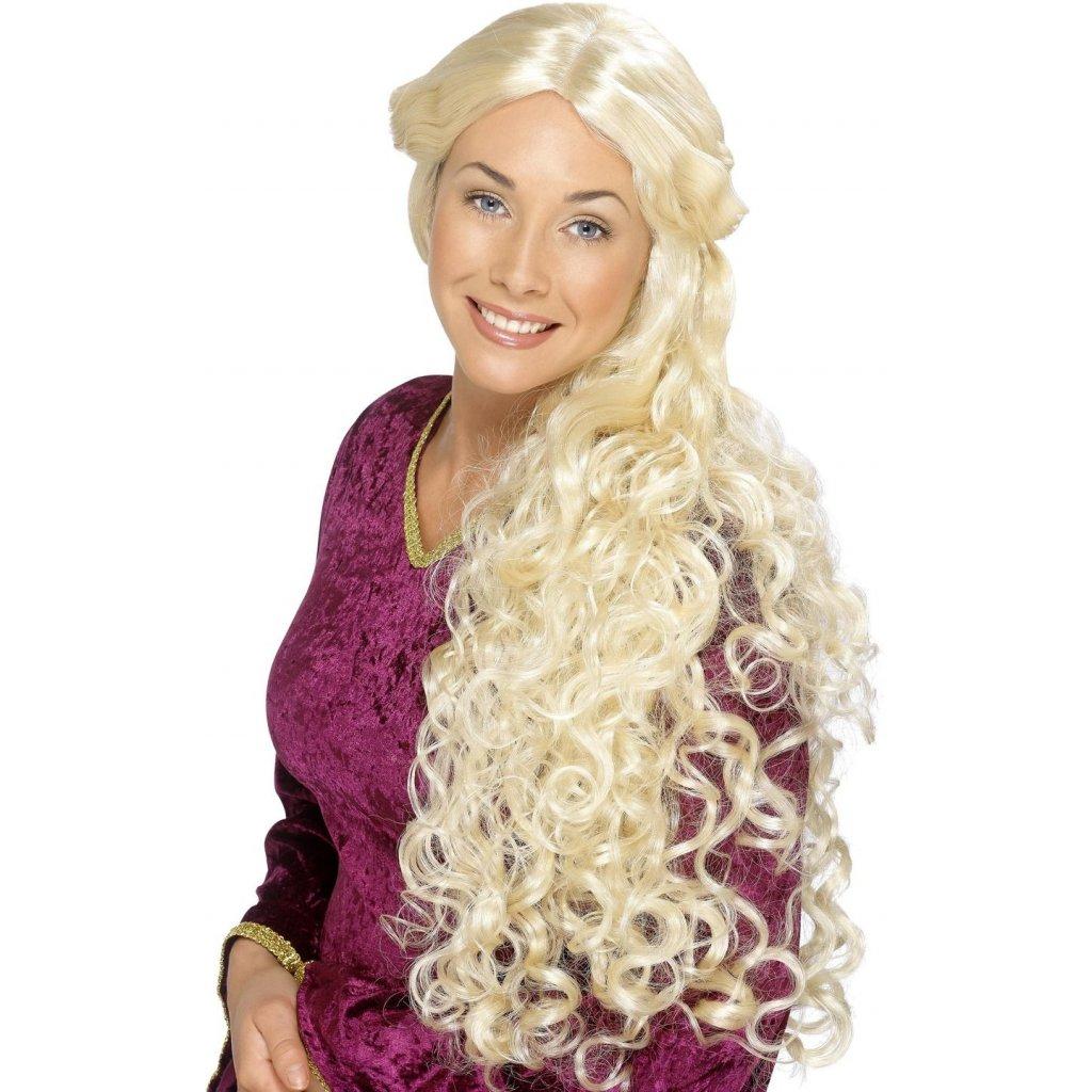 dámská blond paruka renesance