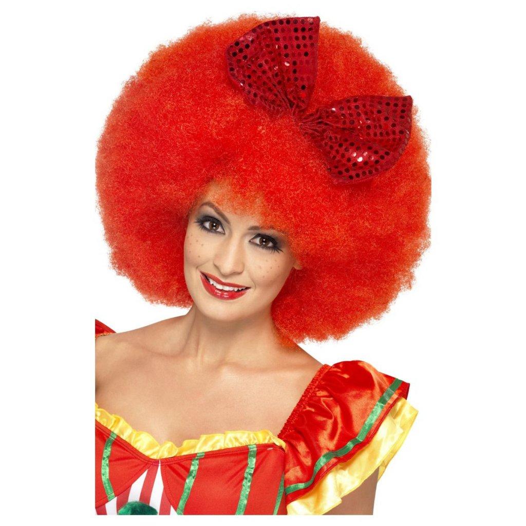 červená afro paruka klaun