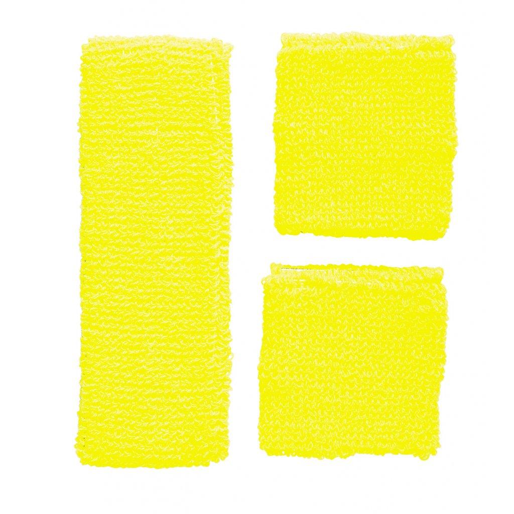 žlutá retro potítka