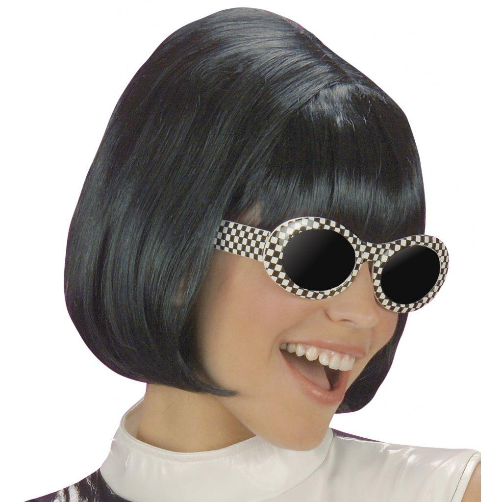 dámská černá paruka 60. léta
