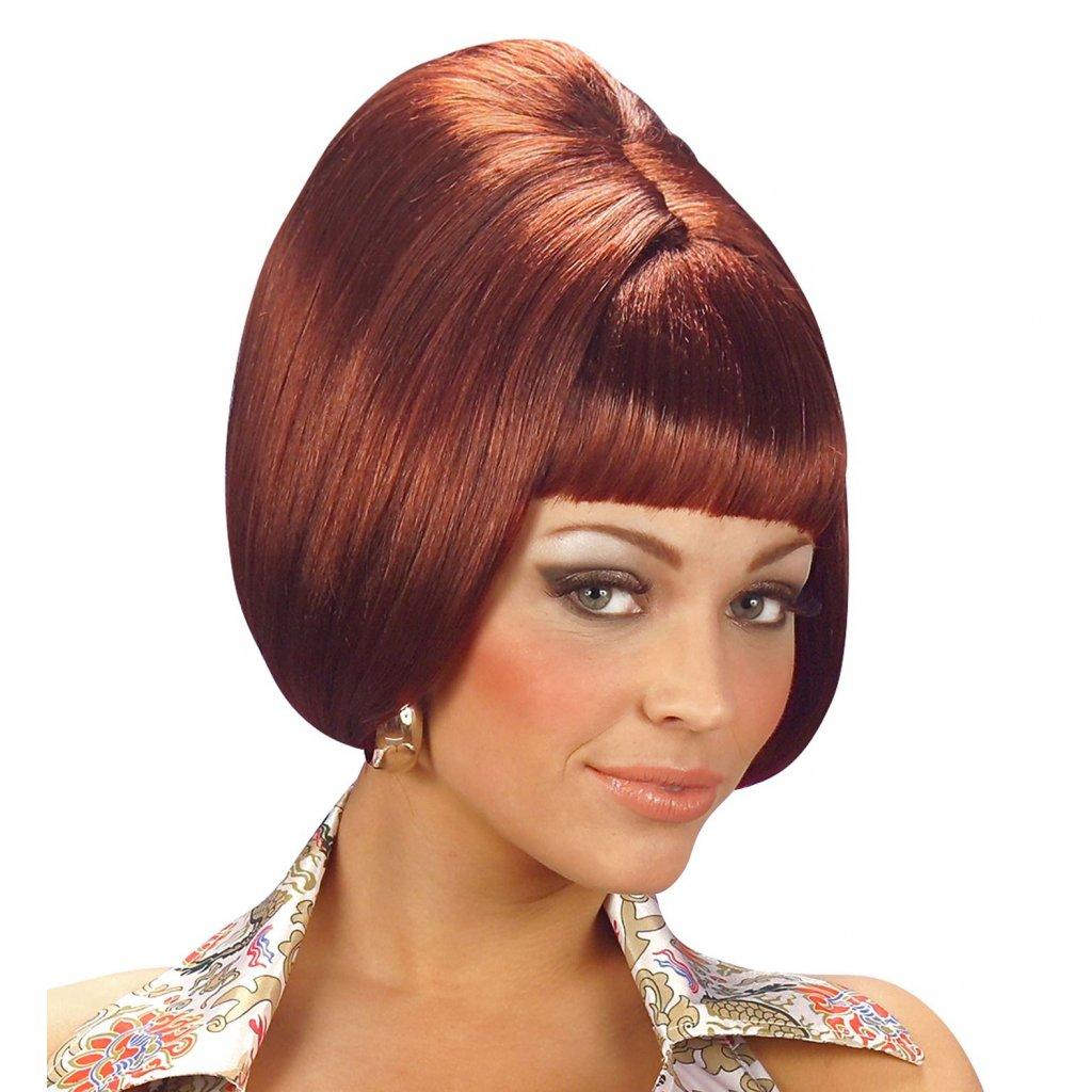 mahagonová paruka 70. léta