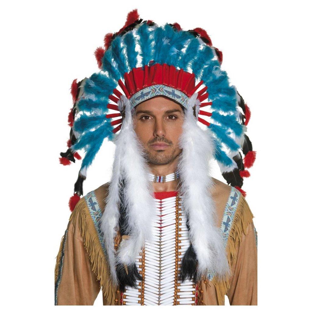 náčelnická indiánská čelenka
