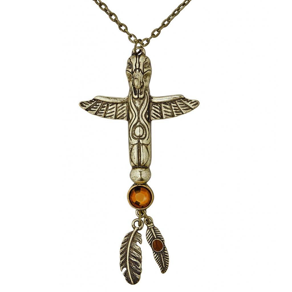 indiánský náhrdelník s totemem
