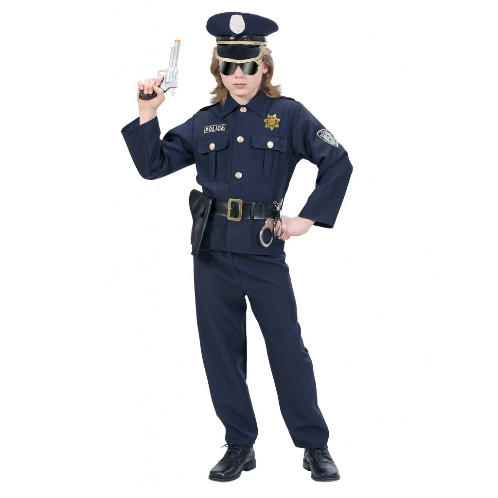 chlapecký kostým policista
