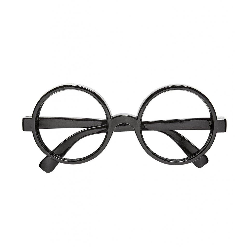 černé kulaté brýle