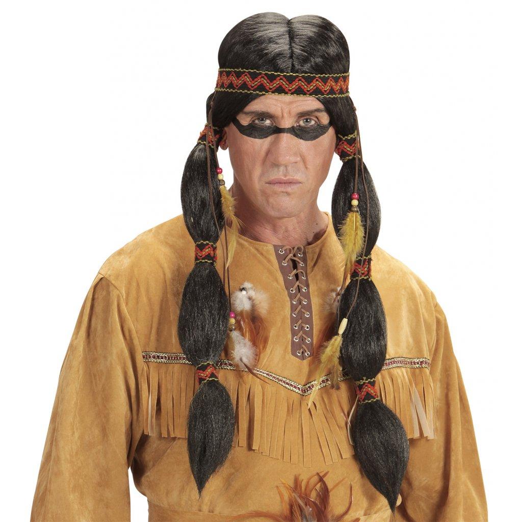 indiánská paruka s korálky