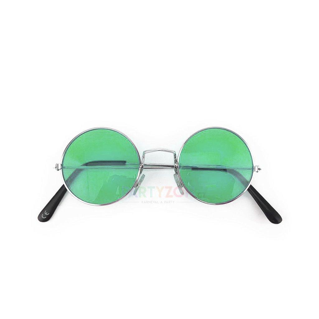 hippie lenonky bryle zelene