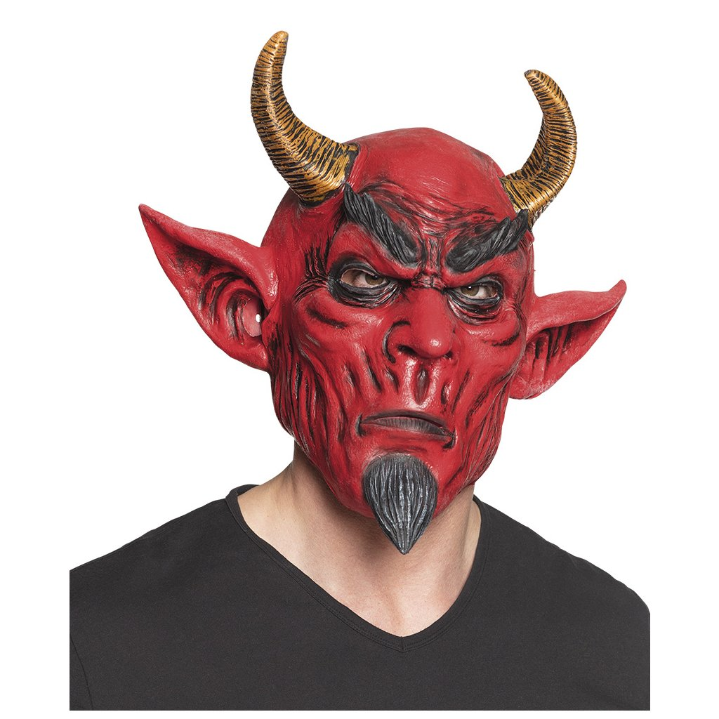 Latexová maska čerta