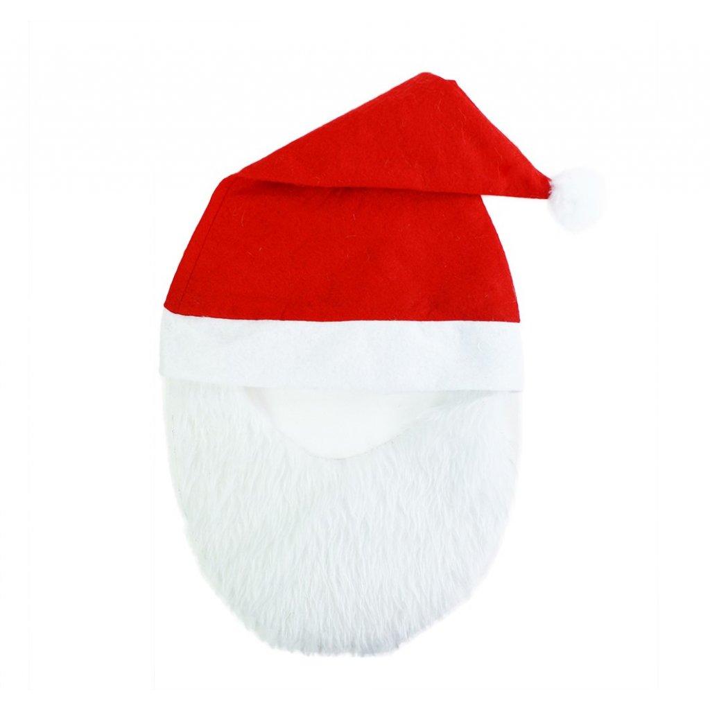 Santa čepice s vousy