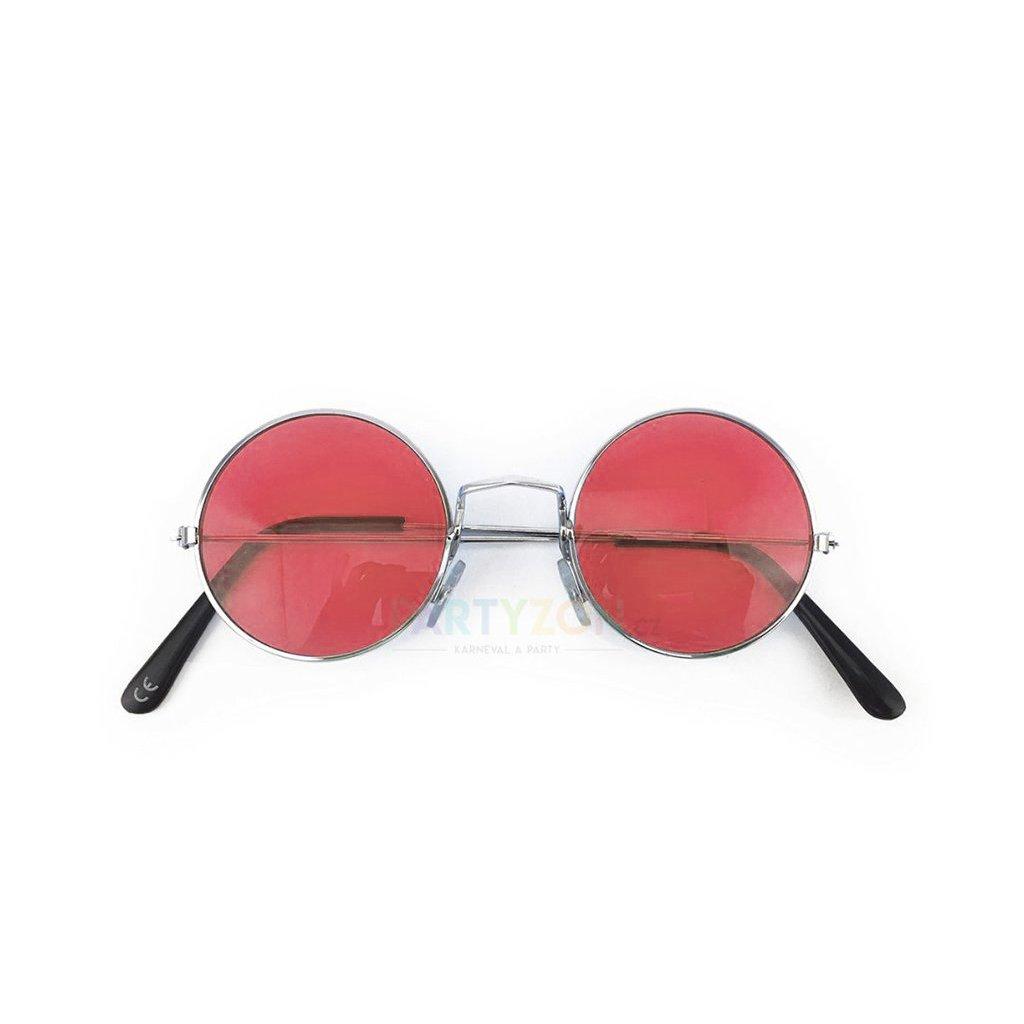 červené lenonky hippies bryle