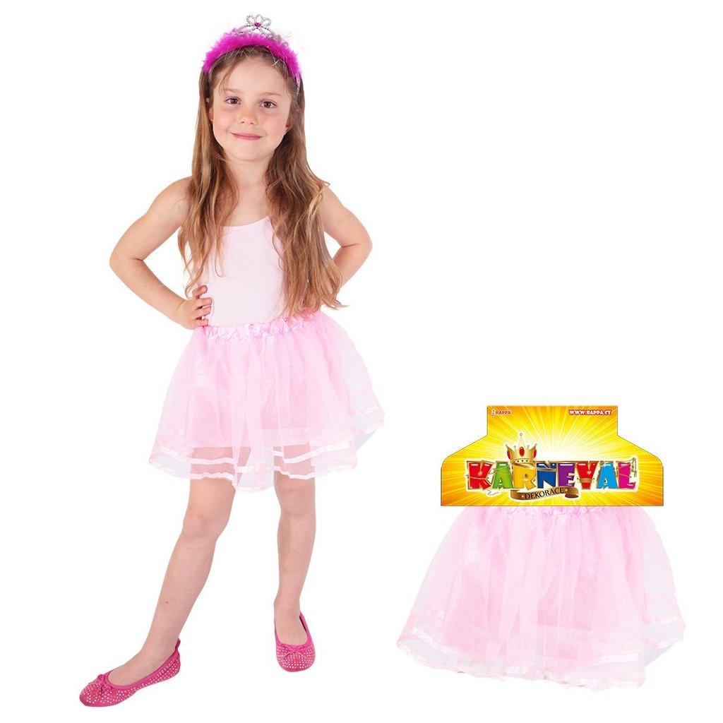 Dětská tutu sukýnka růžová