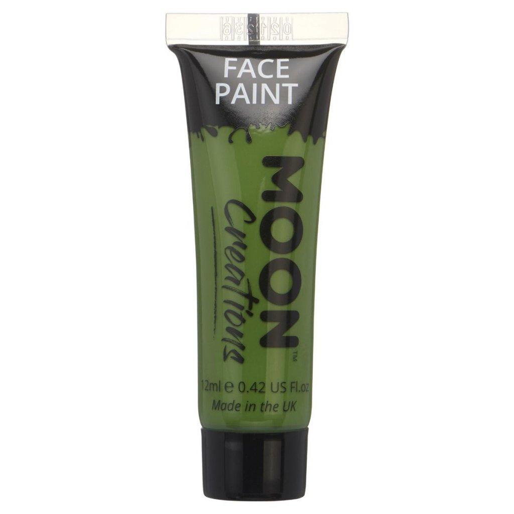 tmavě zelená barva na tělo a obličej