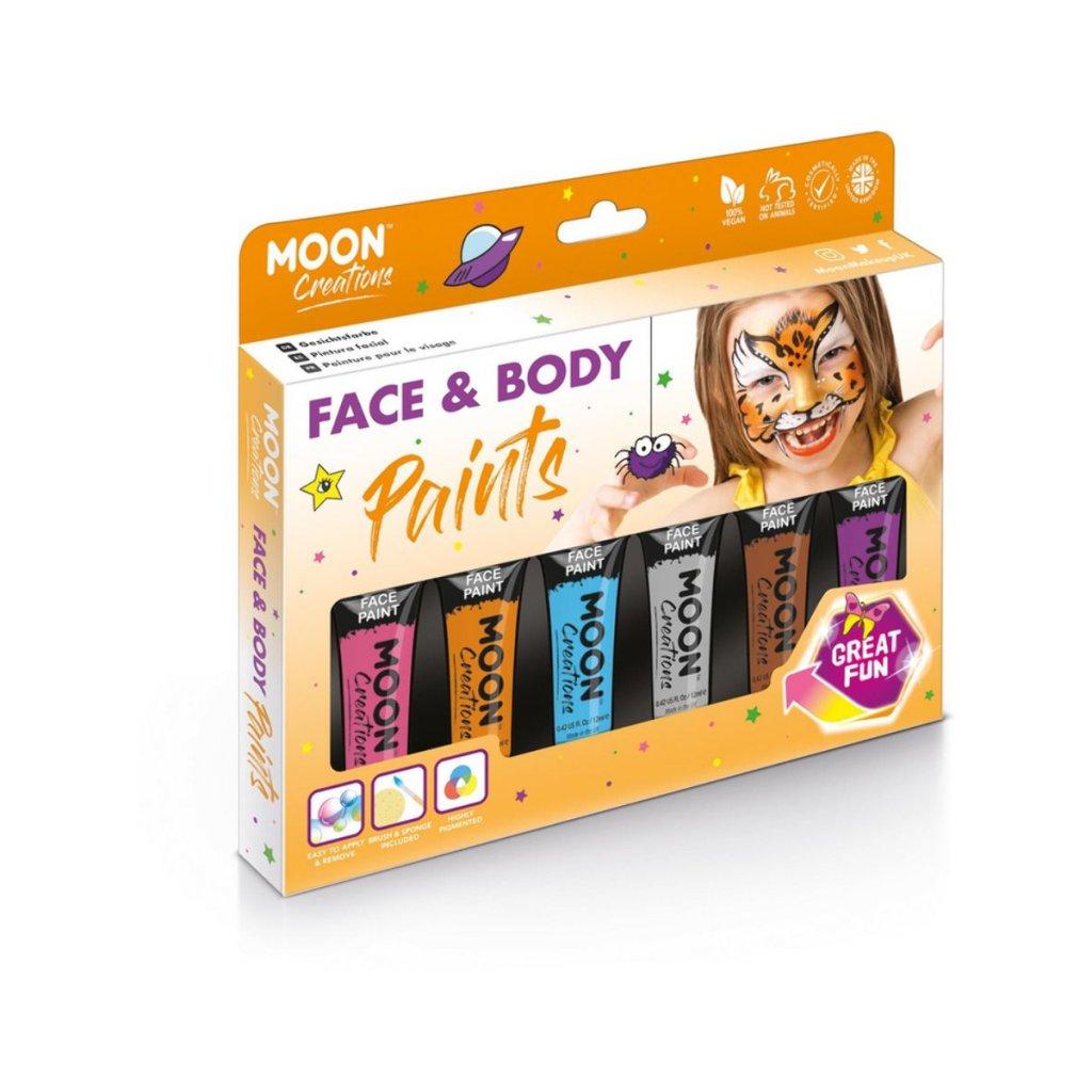 sada barev na tělo a obličej