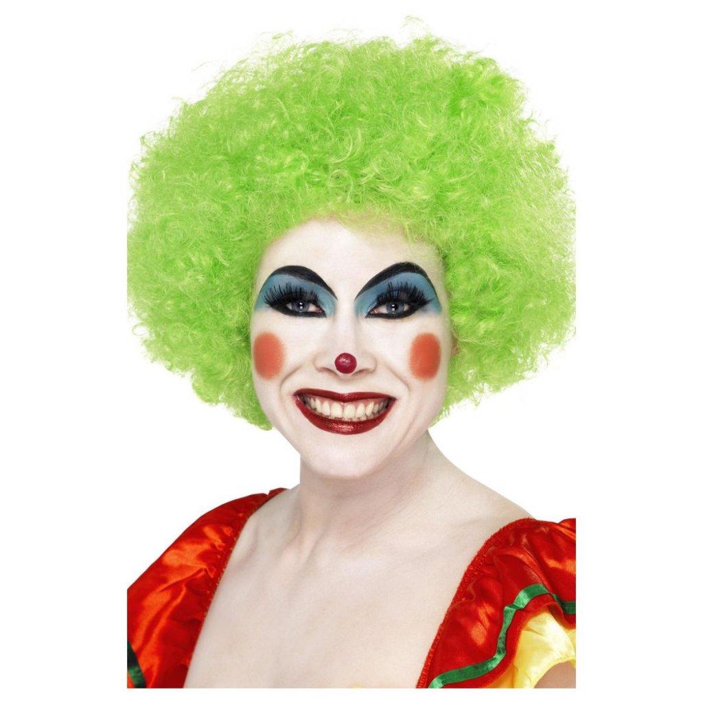 Zelená paruka klaun
