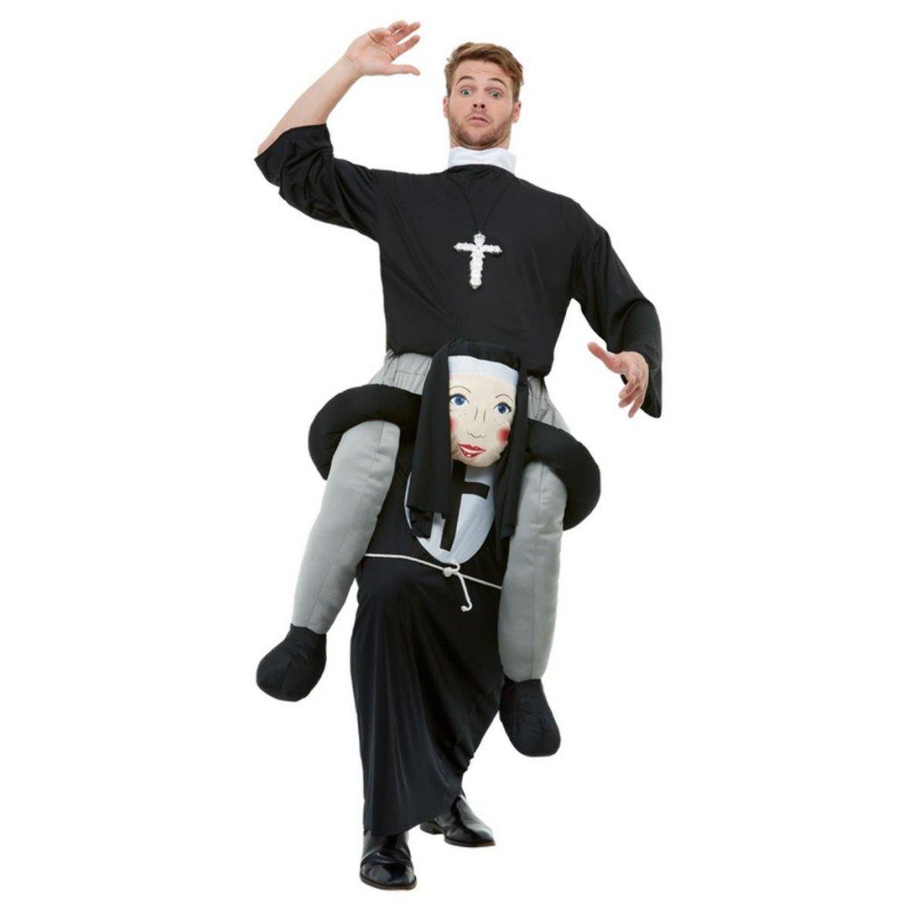 Jezdec na jeptišce (piggyback)