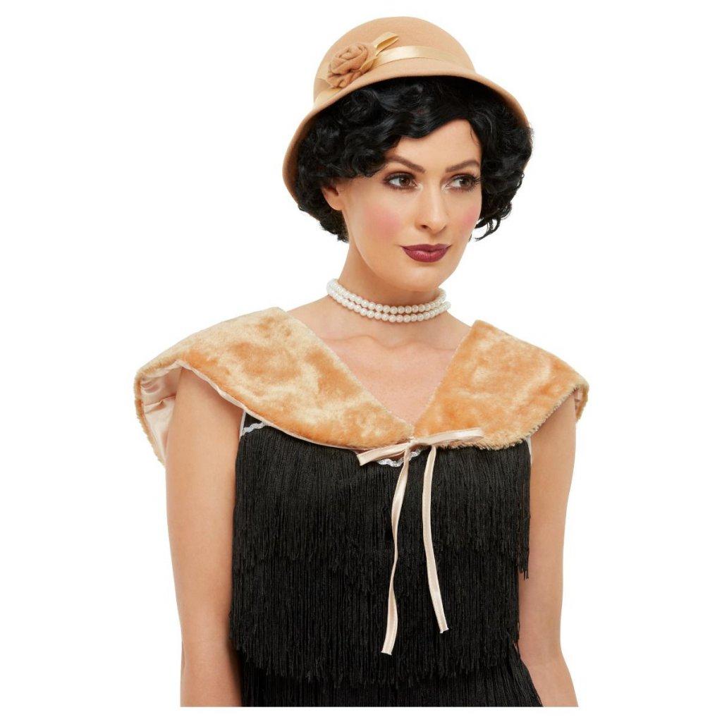 Hnědý kožíšek s kloboukem