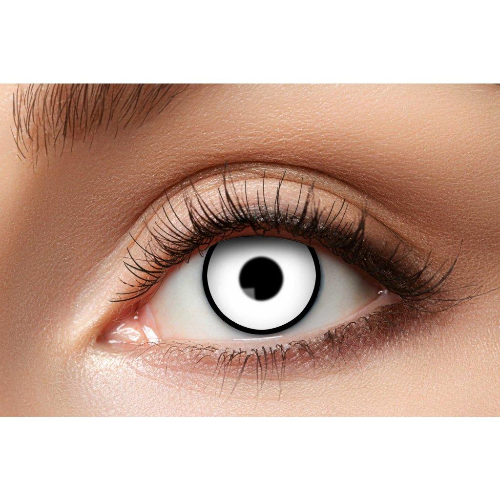 Nedioptrické kontaktní čočky bílé roční