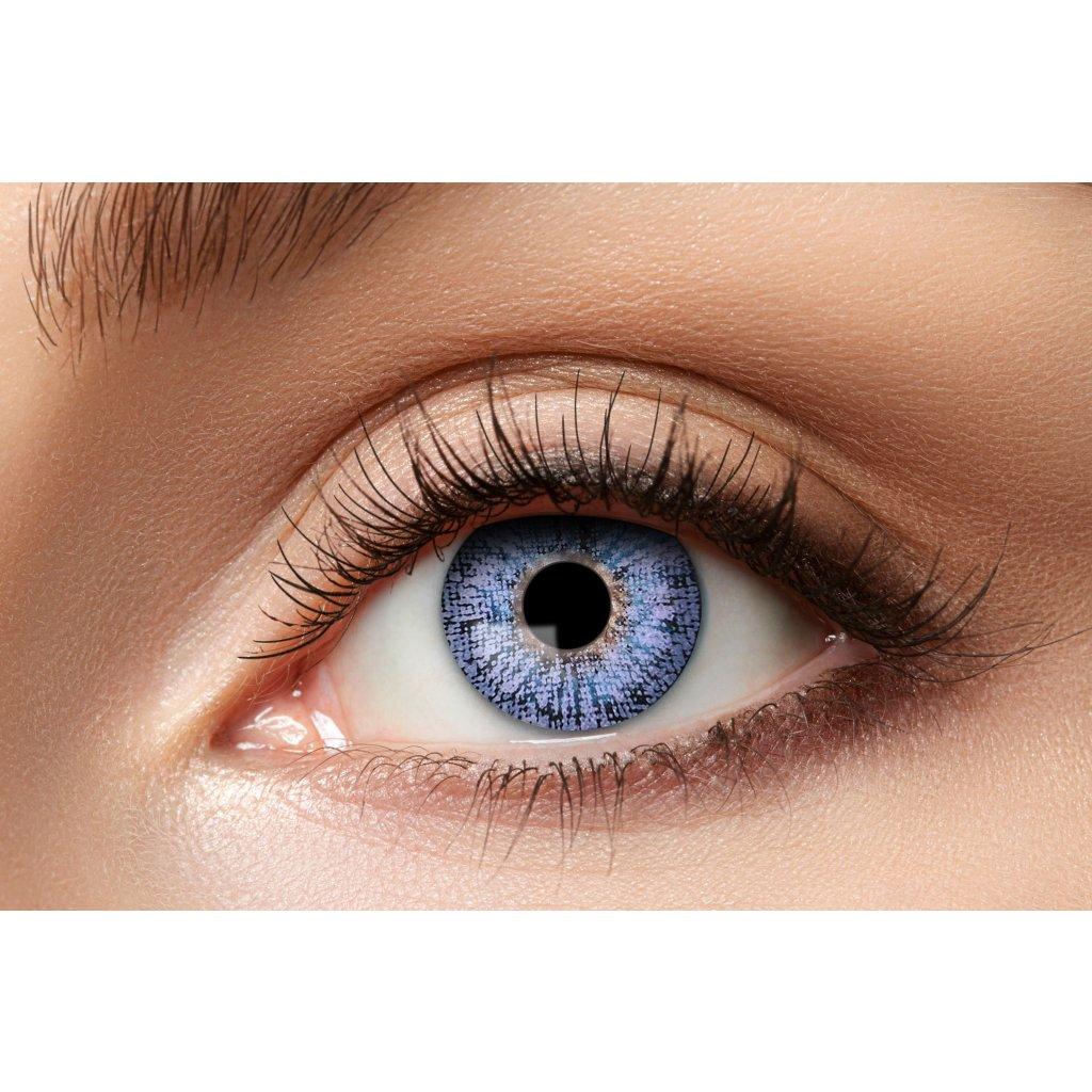 Kontaktní čočky světle fialové roční