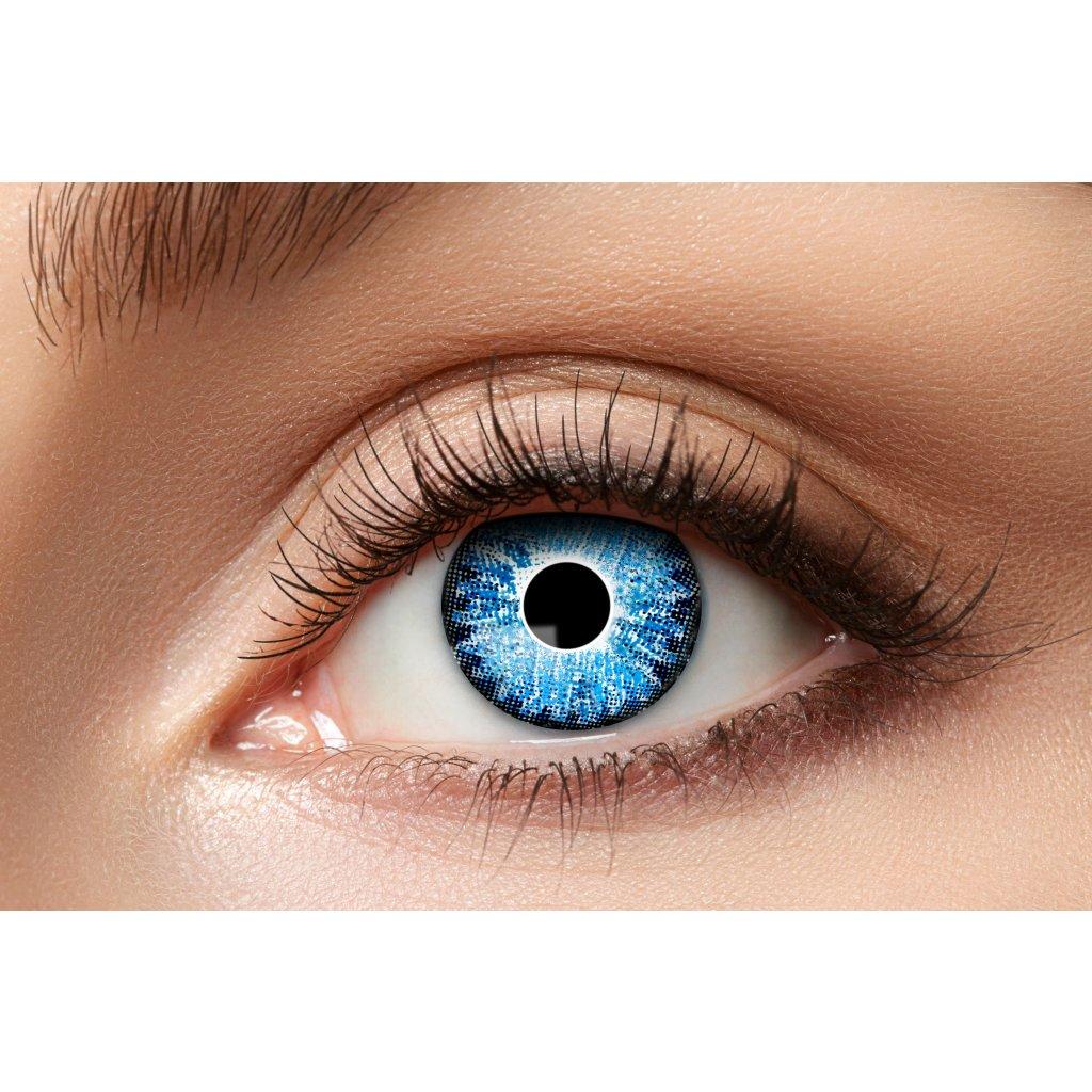 Nedioptrické kontaktní čočky světle modré roční