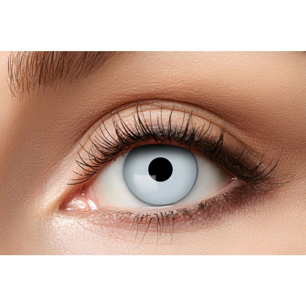 Kontaktní čočky bílé UV měsíční