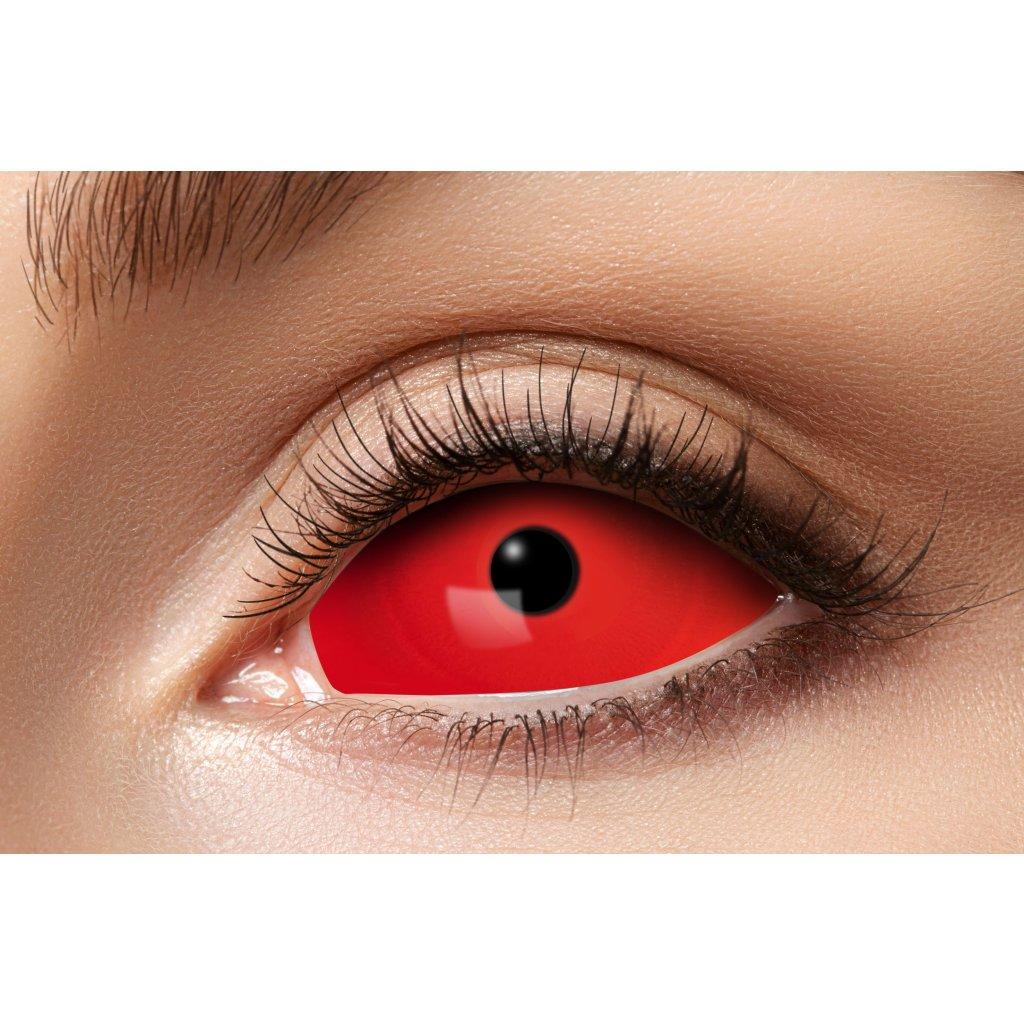 Kontaktní čočk Sclera červené 6měsíční
