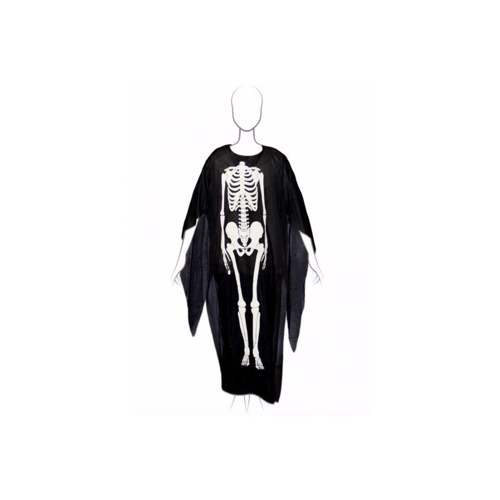 kostym kostlivec plášť halloween