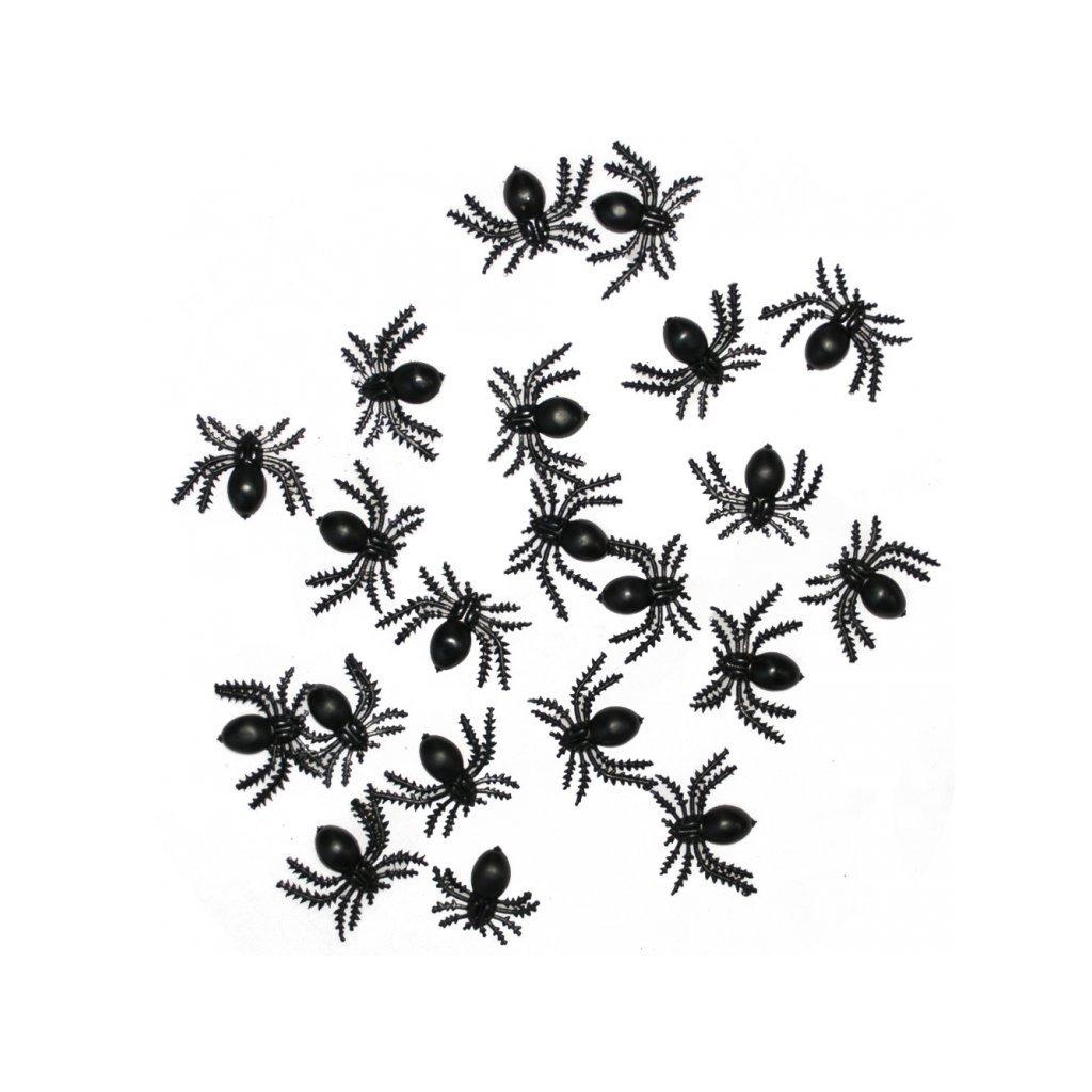 mini pavouci dekorace halloween