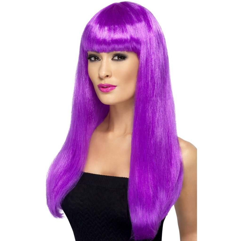 Dámská paruka dlouhá fialová