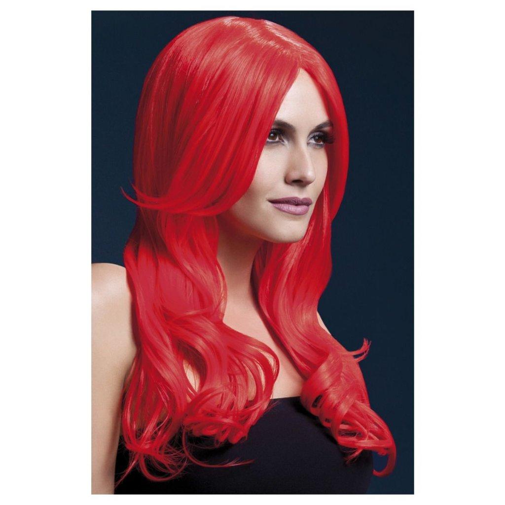 kvalitní červená paruka Khloe