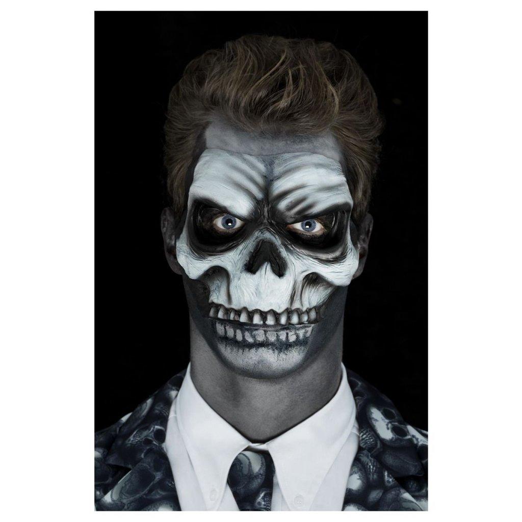 latexová maska lebka návod na makeup 6