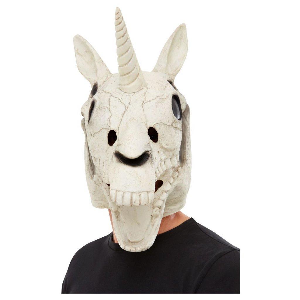 halloween Maska lebka jednorožce