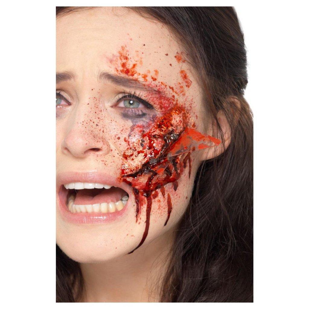 Umělé latexové zranění střepy v kůži ráně