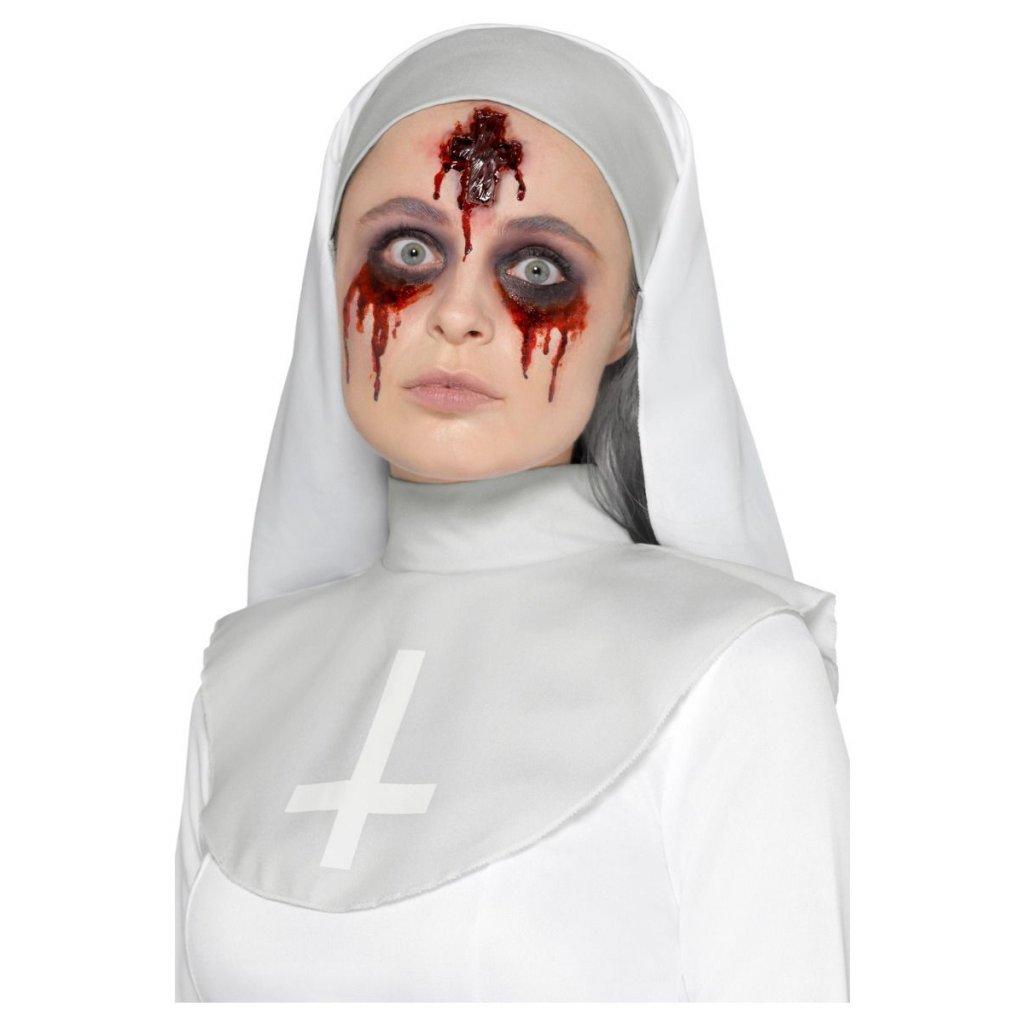 Umělé zranění jeptiška kříž