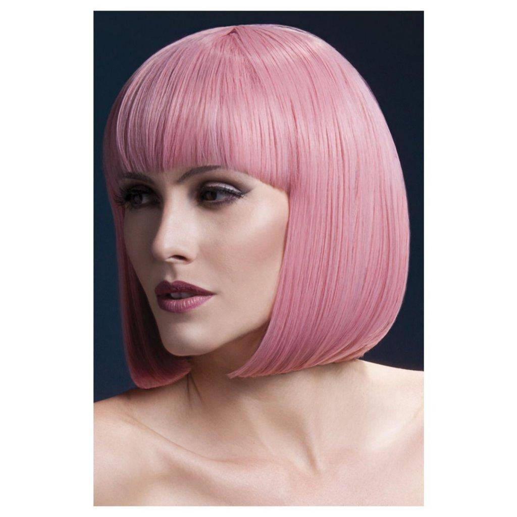 Paruka pastelově růžová Elise profesionální