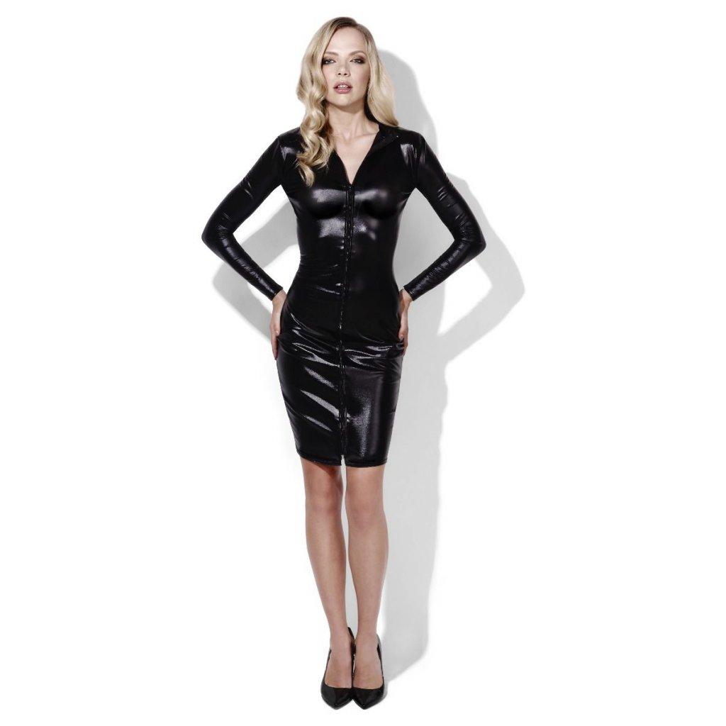 Sexy šaty imitace latexu