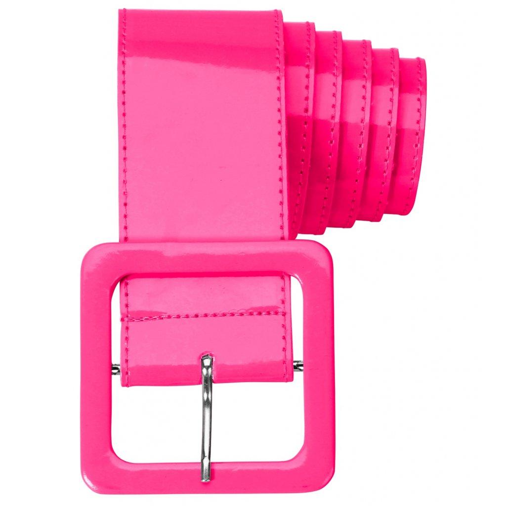 Neon růžový opasek široký
