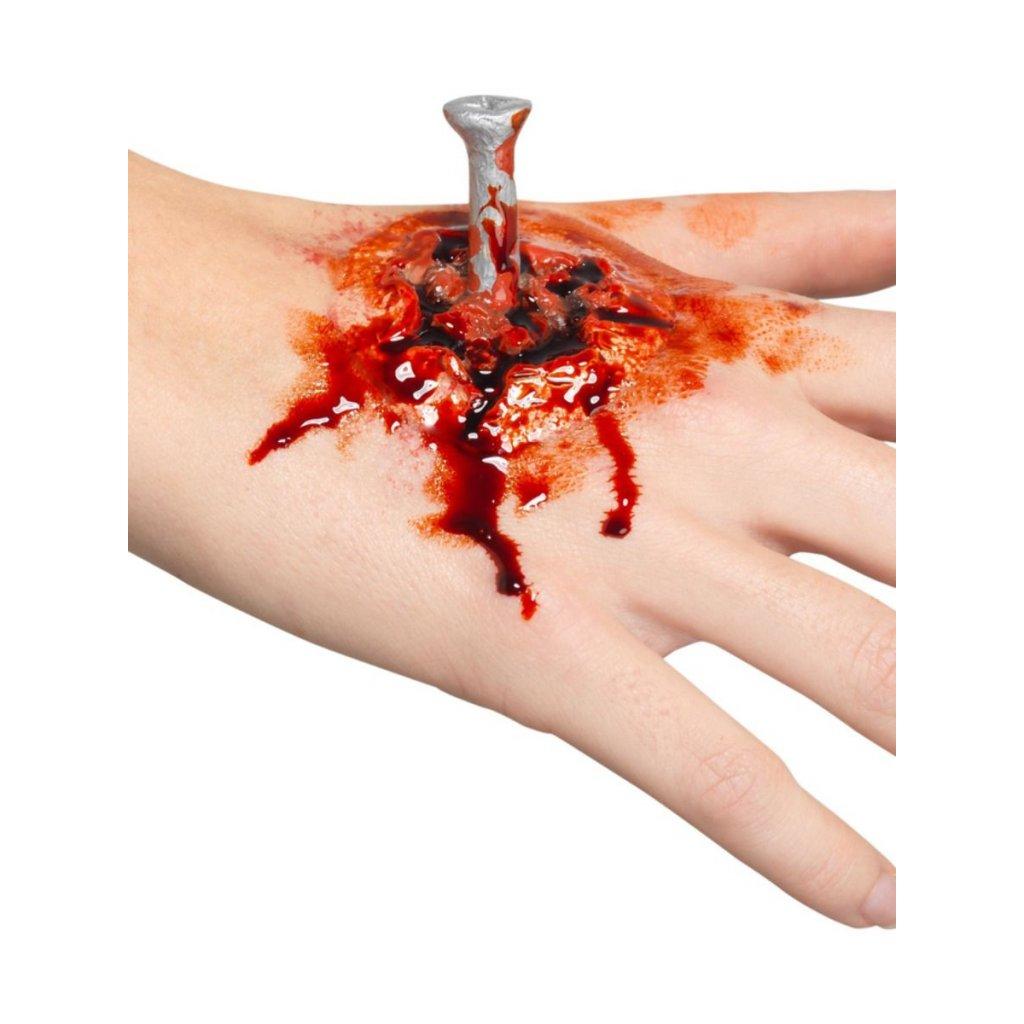 Hřebík v ráně FX umělé zranění