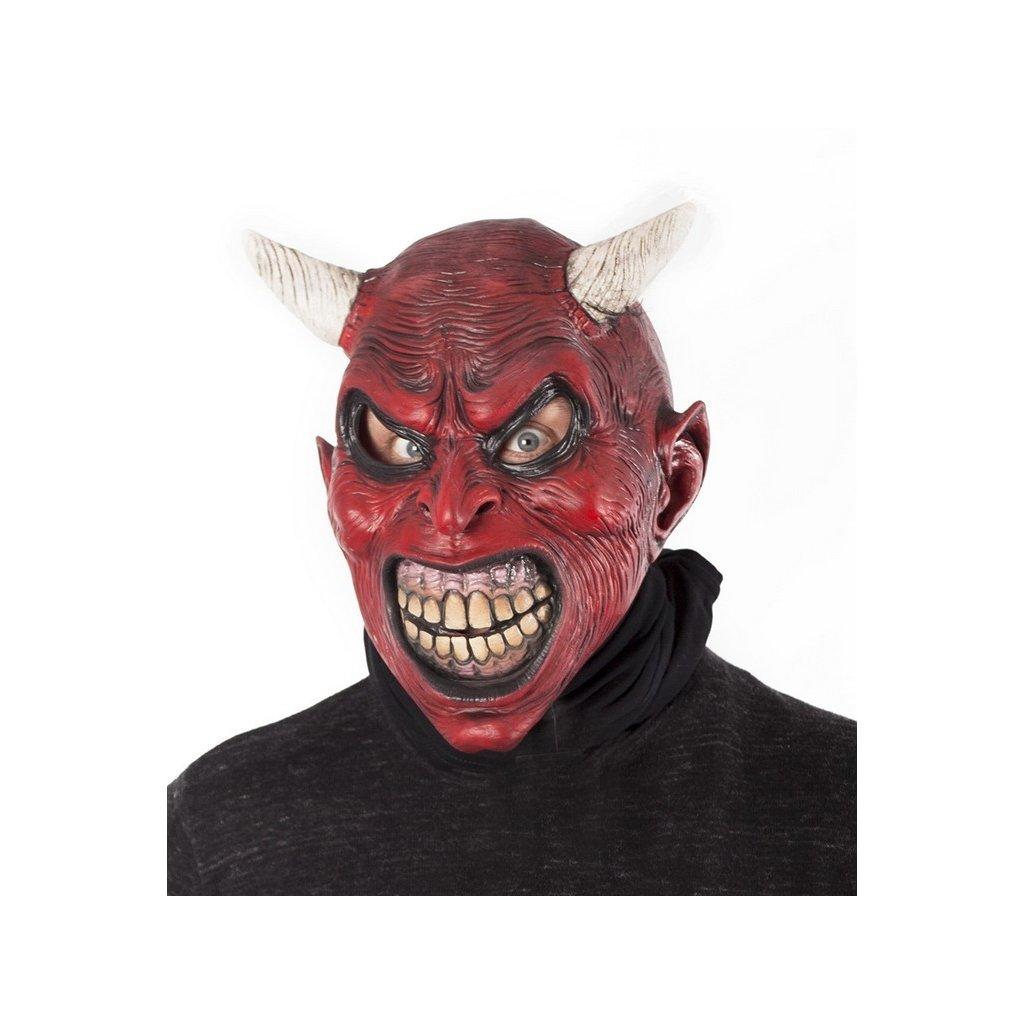 Latexová maska ďábla