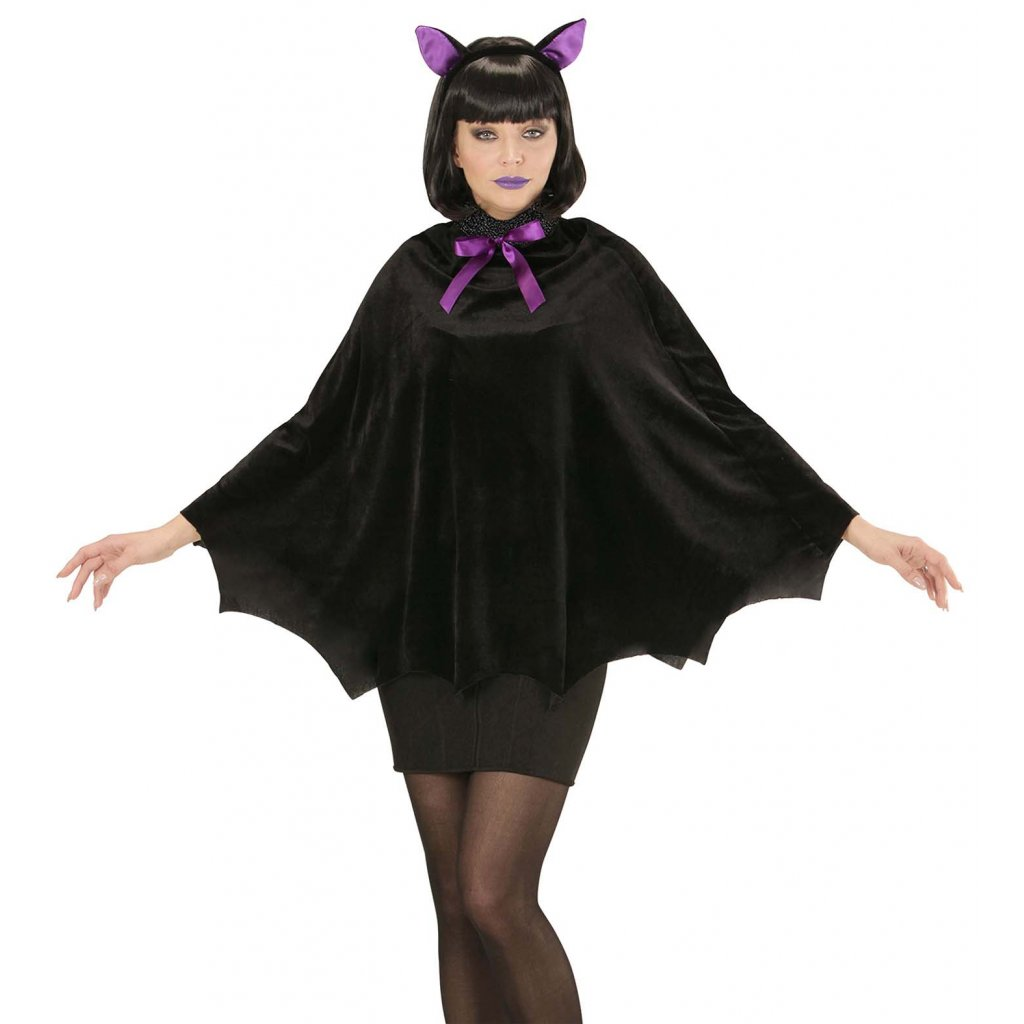 Dámský kostým plášť netopýr