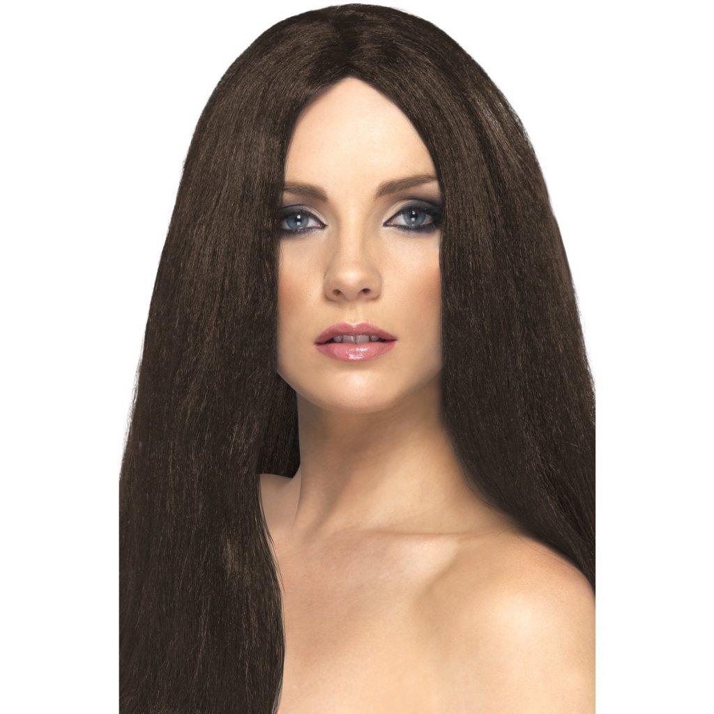 Paruka hnědá (rovné vlasy)