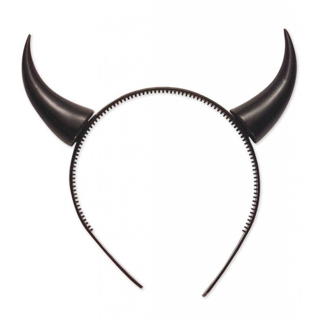 Černé rohy na čelence