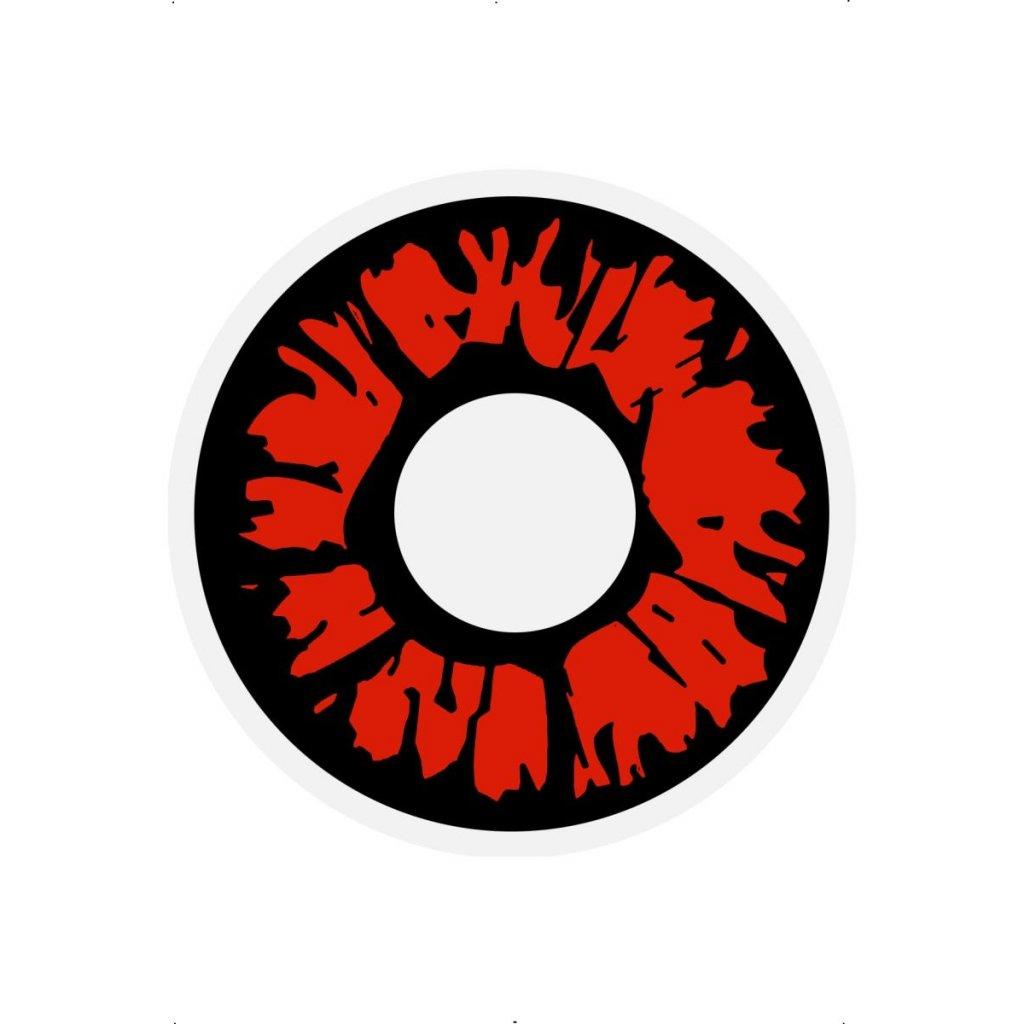 Červené Explosion kontaktní čočky
