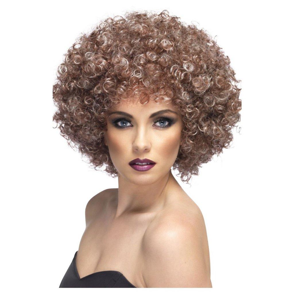 Afro paruka s blond melírem